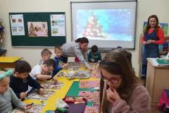 Warsztaty bożonarodzeniowe w klasie 1